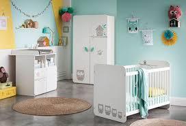 commode chambre bébé lit bébé hiboux blanc