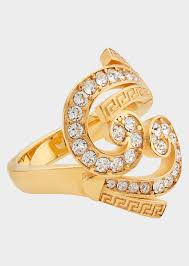rings with crystal images Versace crystal baroque ring for women us online store png