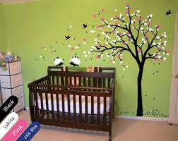 modern baby nursery wall decal tree hedgehog nursery decoration