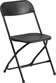 series 800 lb capacity black plastic folding chair
