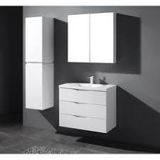 Modern White Bathroom Vanity by 800mm Modern White Vanity Unit Ceramic Sink Wall Hung Bathroom