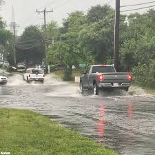 heavy rain brings street flooding to cape cod