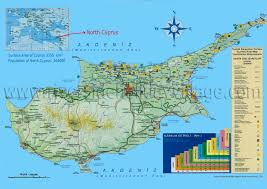 map of cyprus cyprus maps northern cyprus tourist map by riverside