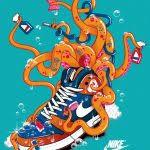 nike graphic designers nike octopus inspiration graphic design