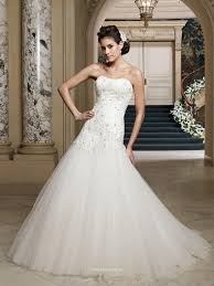 wedding dress in uk strapless tulle and beaded embroidered lace dropped waistline a