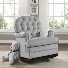 Gray Rocking Chair For Nursery Dorel Living Baby Relax Brielle Button Tufted Rocker Gray