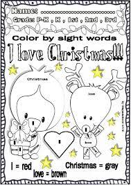 christmas funny worksheets for ela centers pre k 1st grade