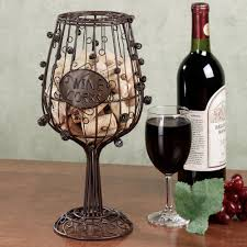 wine glass cork cage wine decor pinterest cork wine and glass