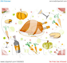 free thanksgiving background clipart thanksgiving background with a border of food and leaves