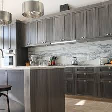 grey stained shaker kitchen cabinets gray cabinets home design ideas pictures remodel and decor