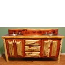 bathroom vanity in light oak