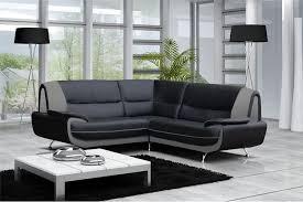 canapé d angle noir et gris canapé moderne simili cuir réversible gris noir chocolat