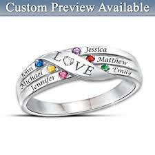 Ring With Name Engraved Womens Ring Love Holds Our Family Together Personalized Diamond Ring