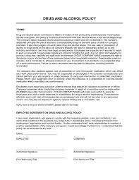drug and alcohol policy template u0026 sample form biztree com