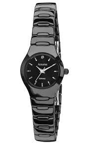 ceramic bracelet watches images Accurist ceramic ladies black bracelet watch lb1670b jewellers ark jpeg