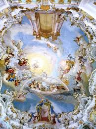 Church Ceilings Wieskirche White Church Ceiling Painting Of The Door To Heaven