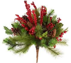 20 berry and pine decorative urn filler by valerie page 1 qvc