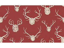 lee jofa eric cohler antlers linen fabric red