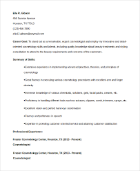 cosmetology resume templates gallery of cosmetologist resume template