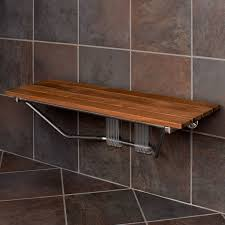 Teak Benches For Showers Folding Built In Teak Shower Bench