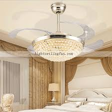 Retractable Ceiling Light by Arcylic 42inch Retractable Crystal Invisible Ceiling Fan Remote