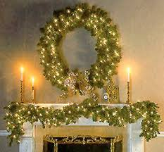 wreath for placement club seal garland and candles for