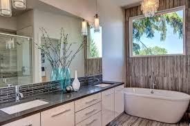 modern master bathroom with subway tile by dk wozniak design build