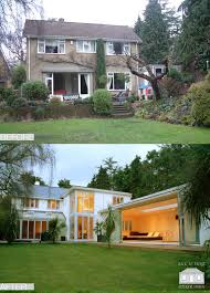 two storey glass extension real homes extension pinterest