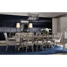 Gretta Hollywood Regency Adjustable Steel Inlay Dining Table - Regency dining room