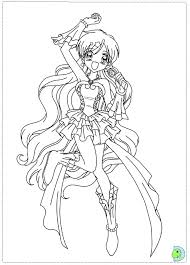 mermaid melody coloring dinokids org anime coloring pages