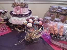 country cowgirl themed baby shower sweet table decorate