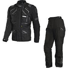 black motorcycle jacket richa touareg motorcycle jacket u0026 trousers black kit waterproof
