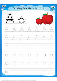letter a is for apple handwriting practice worksheet free