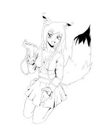 12 images of anime fox coloring pages fox coloring pages anime