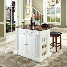 kitchen with island and breakfast bar crosley furniture kf300075wh coventry drop leaf breakfast bar top