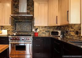 slate tile kitchen backsplash beige cabinet brown countertop slate tile backsplash