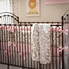 girls cheetah bedding baby nursery decor animal lover design custom purple photo