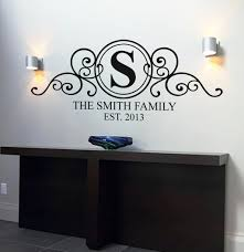 designer wall decals stickers amazing quality unique designs personalised family name monogram wall art decal personalised wall art decal sticker