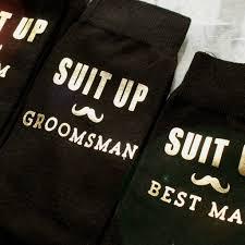 Best Man Socks Suit Up U0027 Groom Best Man Usher Socks By Vanilla Retro
