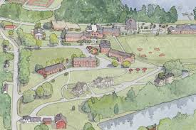 Umass Amherst Campus Map Architectural Illustration By Tom Gastel At Coroflot Com