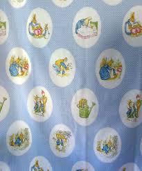 rabbit material vintage beatrix potter rabbit fabric