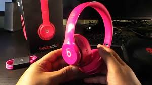 beats solo 2 unboxed pink edition
