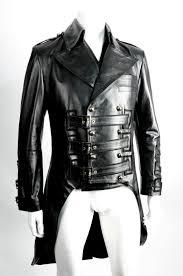 biker waistcoat impero london mens new leather black military steampunk victorian