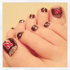 thanksgiving nails designs nebraska huskers nail design nail designs pinterest