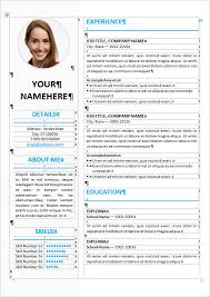 ms word resume templates resume template