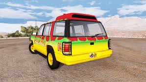 roamer tour car jurassic park for beamng drive