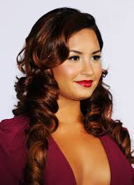 steal demi lovato u0027s style for prom hair coloring big curls and