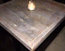 Reclaimed Wood Bistro Table Reclaimed Wood Patina Finish Table Top Rustic Turquoise Bar