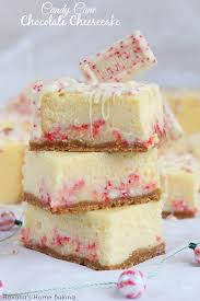 Christmas Cheesecake Decoration - candy cane chocolate cheesecake bars recipe