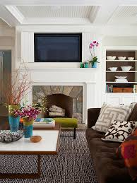 using color throughout a house mantels built ins and decorating